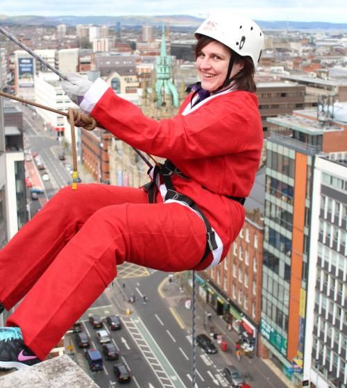 Suzanne Completes Her Abseil for Charity